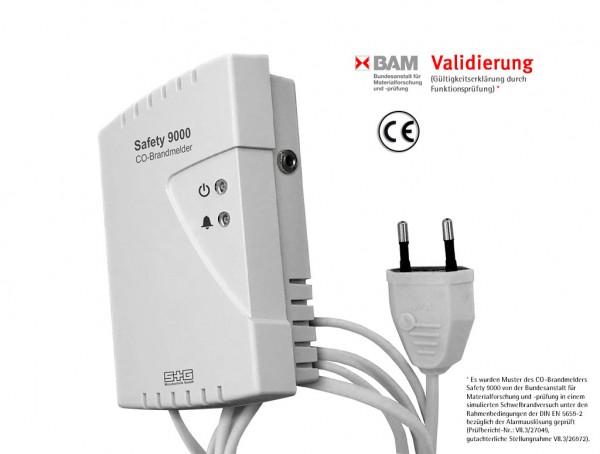 CO-Brandmelder Safety 9000 p. A. (Netzkabel)